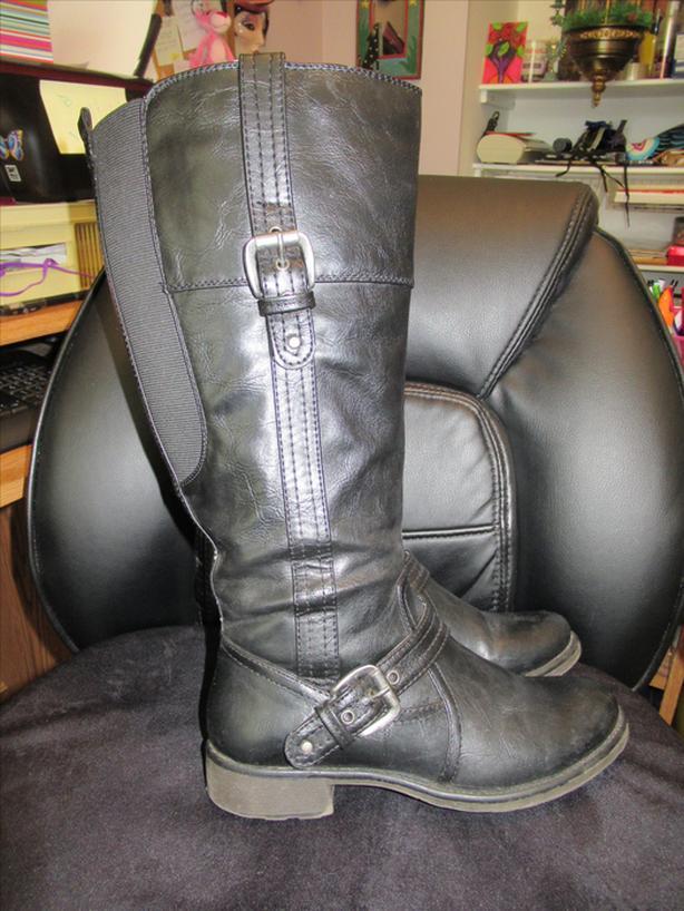 Ladies Knee High Boots Wide Calf