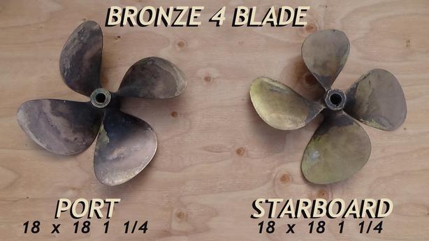 4 Blade Bronze Props