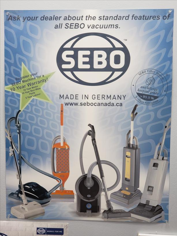 SEBO GERMAN MADE VACUUMS WITH 10 YEAR WARRANTY
