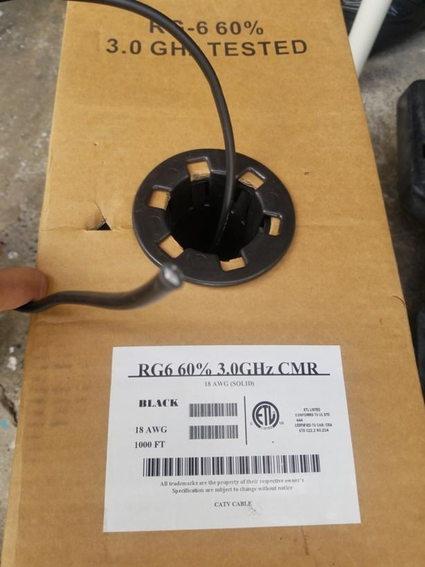 782ft spool of Coaxial Cable RG6