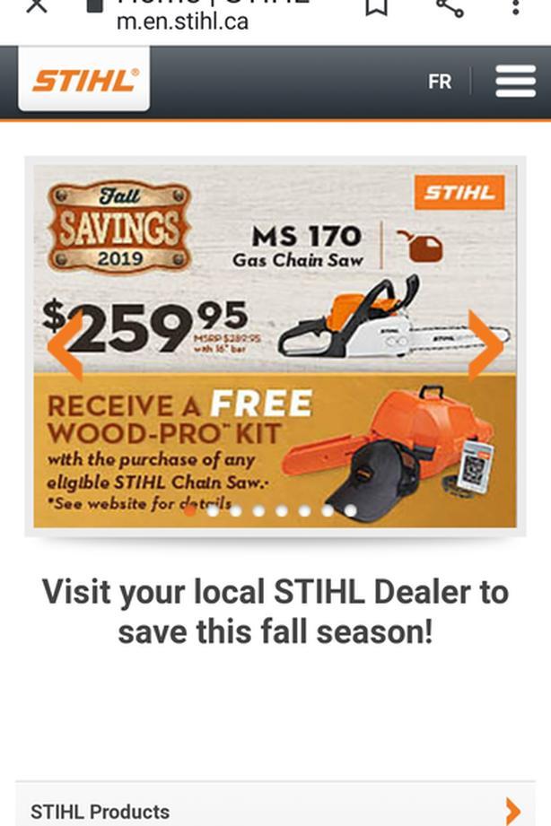 Stihl Fall Savings/Sooke Power Supply