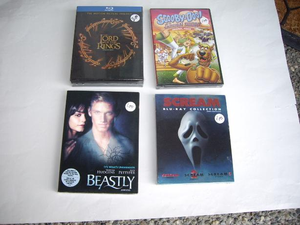 CDS SCREAM/SCOOBYDOO MOVIE/BEASTLY/LORD OF THE RINGS TRI/ ALL SEALED