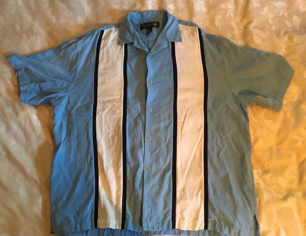 Nat Nast Silk Short Sleeve Camp Shirt