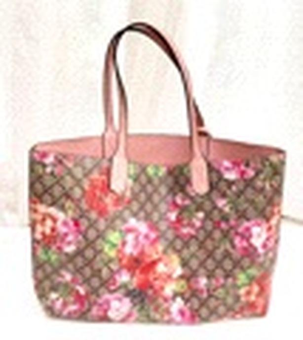 Gucci GG Blooms Reversible Rose Leather Tote Bag