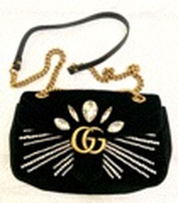 Gucci GG Swarovski crystals Velvet Handbag - LIMITED EDITION