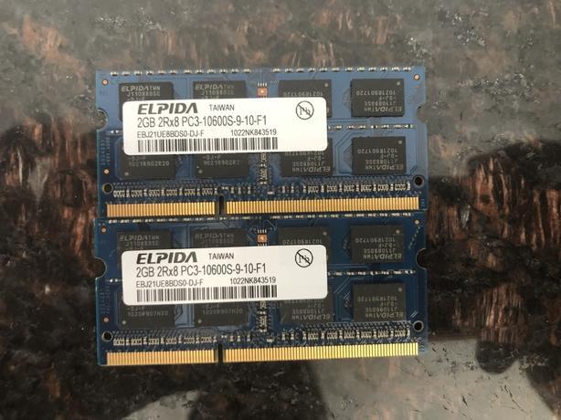 ELPIDA LAPTOP MEMORY - 2 x 2GB - DDR3