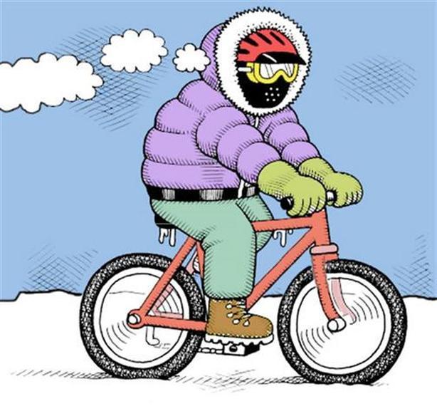 Winter Bike w/ Studded Tires ~ Kuwahara