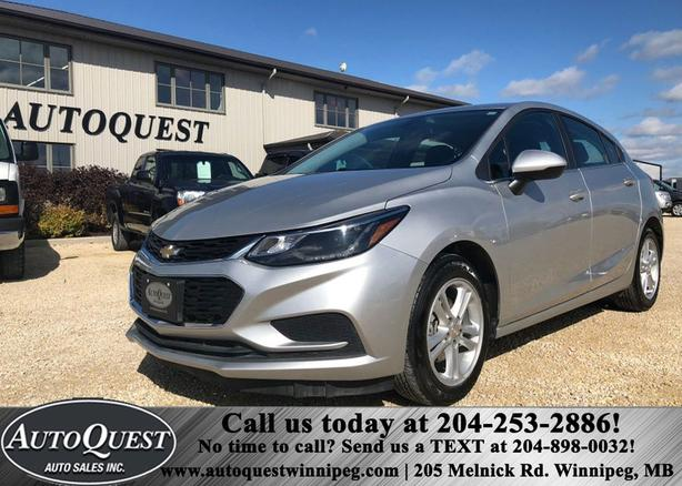 2017 Chevrolet cruze 1.4L, 4 cyl, Remote start, Heated Seats, & Low Kms