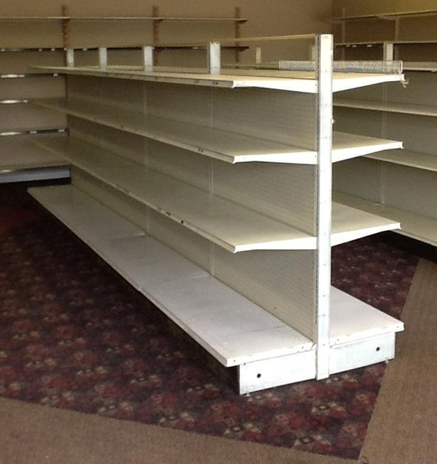 STORE SHELVING - LOZIER BRAND GONDOLA SHELVING FOR SALE