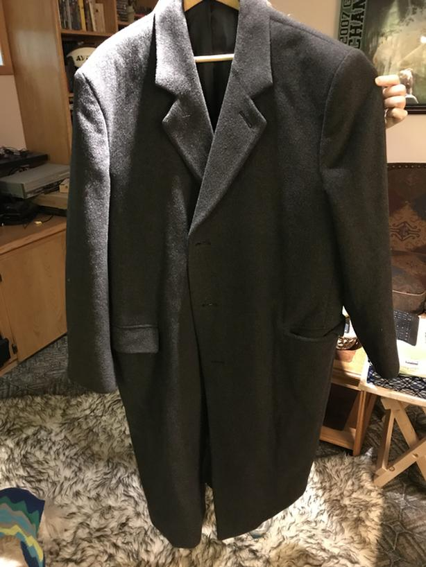 Wool and Cashmere overcoat size 48