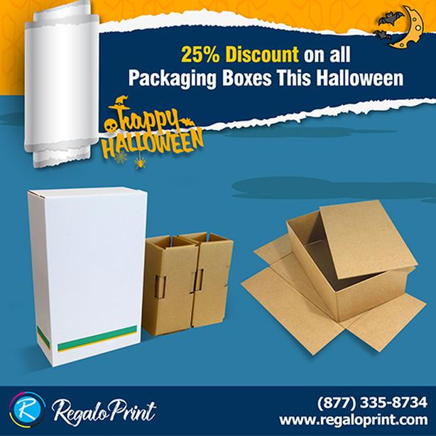 25% Discount on All Packaging Boxes This Halloween | RegaloPrint