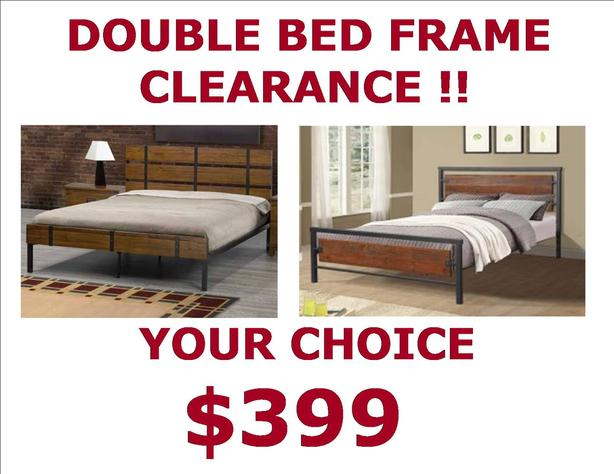 DOUBLE SIZE PLATFORM BED CLEARANCE ONLY 2 LEFT SAVE OVER $400 - $399