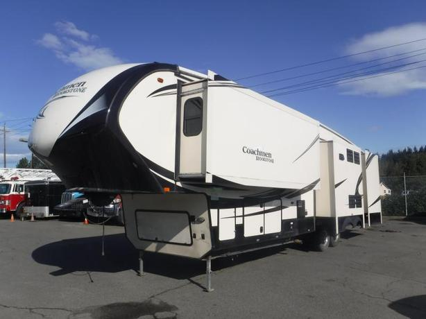 2015 Coachman Brookstone 370RL 5th Wheel Trailer with 5 Slide Outs
