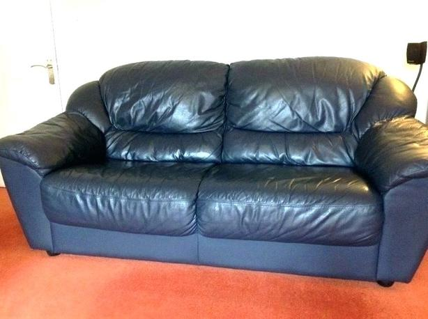 FREE*Black Leather Couch*FREE