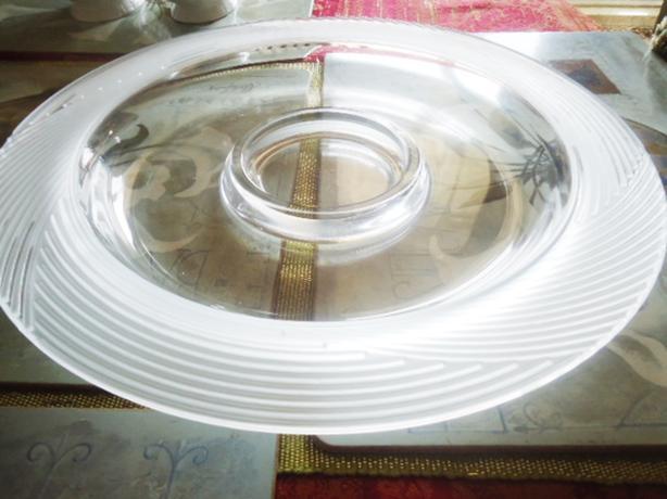 "14"" Mikasa Round Glass Serving Dip Platter"