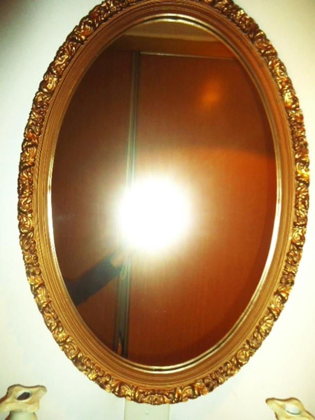 Stunning Oval Gold Wall Mirror - Vintage Ornate Frame