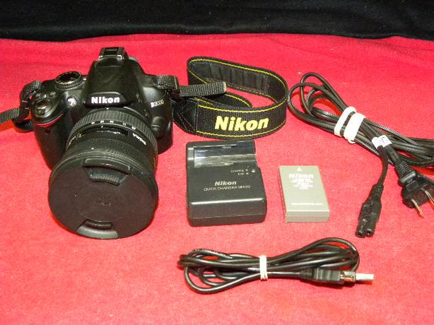 Nikon D3000 digital SLR with Sigma 10-20mm ultra wide angle lens