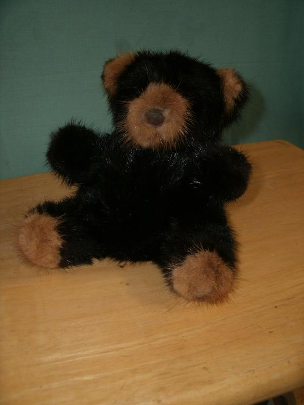 Authentic Black Fur Bear - Collectible Toy