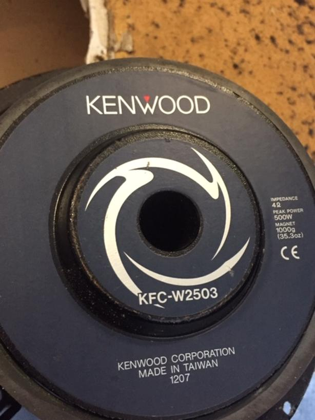 Kenwood 10 inch subwoofer