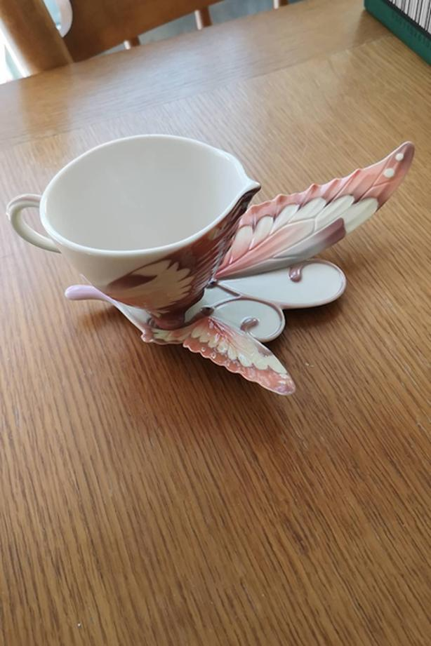 Franz butterfly tea cup and saucer