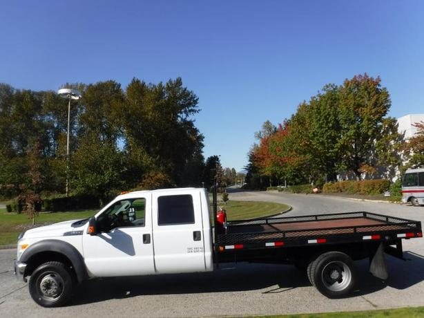 2011 Ford F-550 XLT Flat Deck 12 foot Crew Cab Dually  4WD