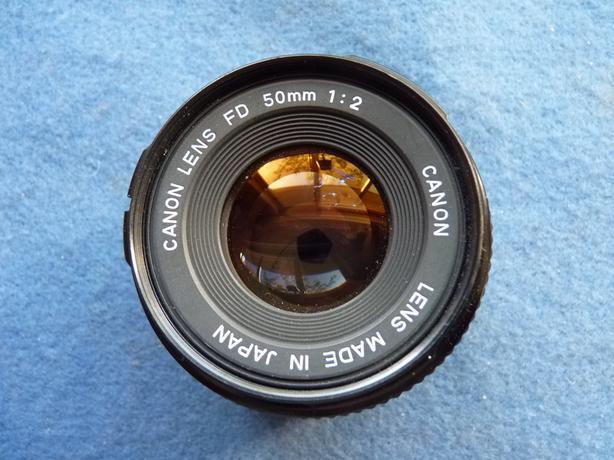 Canon FD 50mm 2 35mm film camera lens