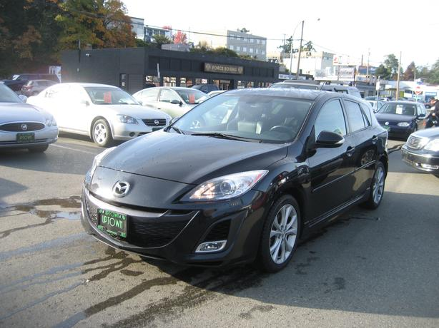"""2010 Mazda 3""""GT"""" ONLY 144951Km's. Black on Black Leather power roof"""