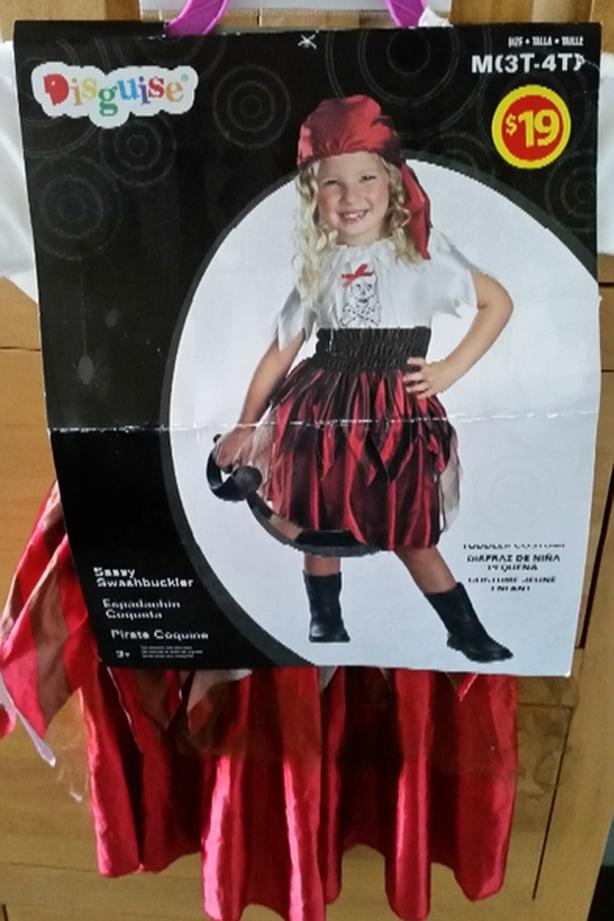 Girl Halloween Pirate costume size 3T-4T