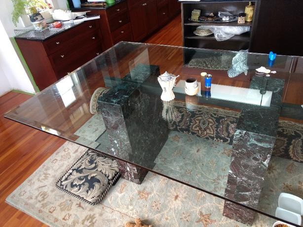 glass/marble dining table
