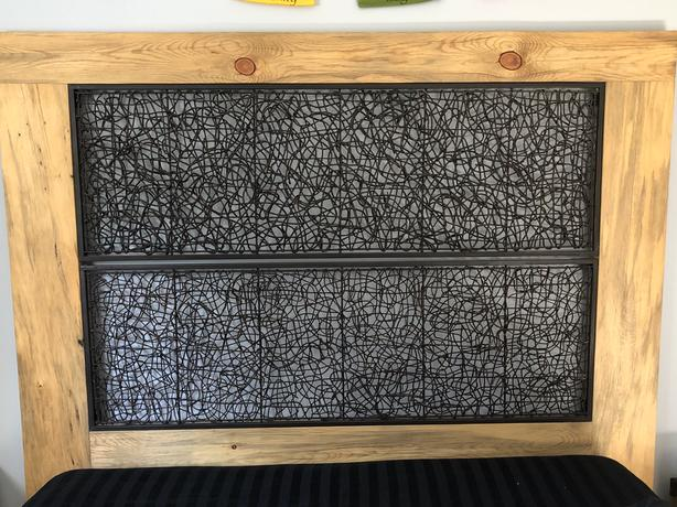 Wooden/Metal Up-Cycled Head Board Queen
