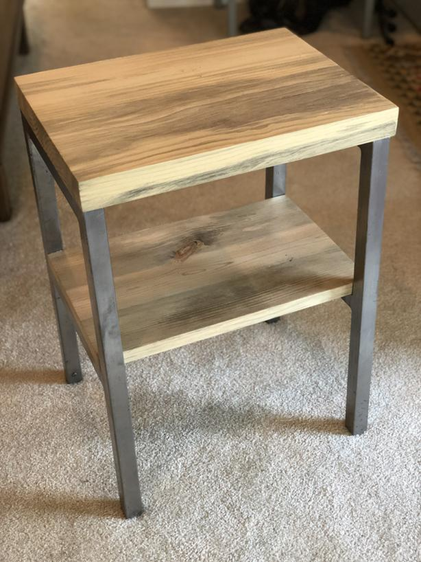 Up-Cycled 2 Tier Side Table/Shelf