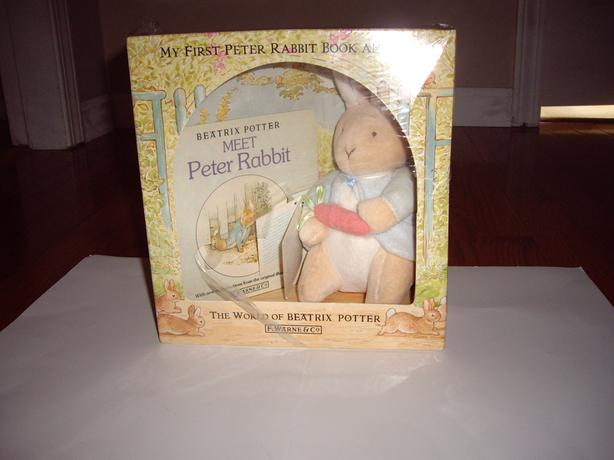PETER RABBIT NEW, RABBIT IN BOX W BOOK, BUNNYKINS