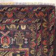 """Handmade Traditional Afghan Area Rug 4'8"""" x 2'8"""""""