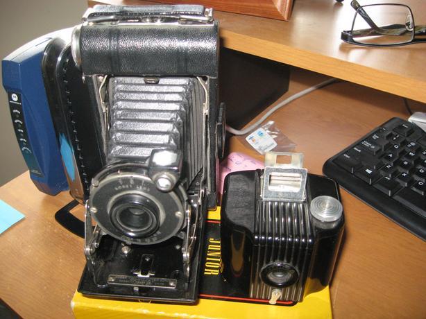 Kodak Junior six-20 camera and Baby Brownie, great shape