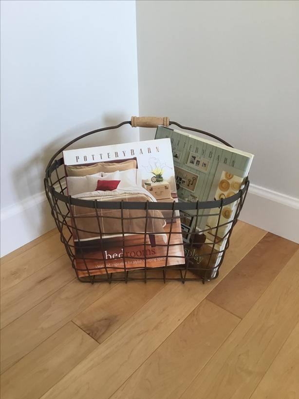 Basket with  2 Pottery Barn Books