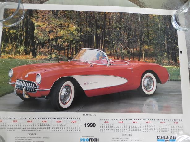 Free 1990 Calander - 1957 Corvette