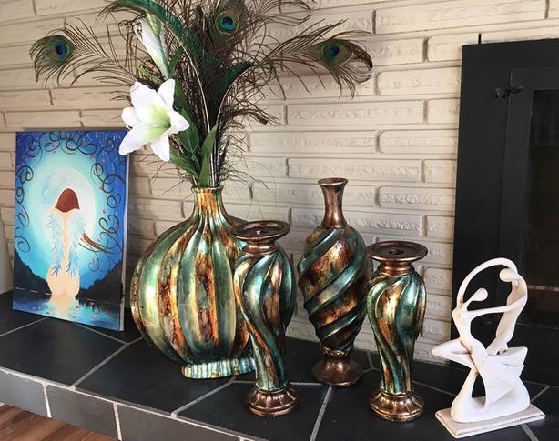 turquoise vase set