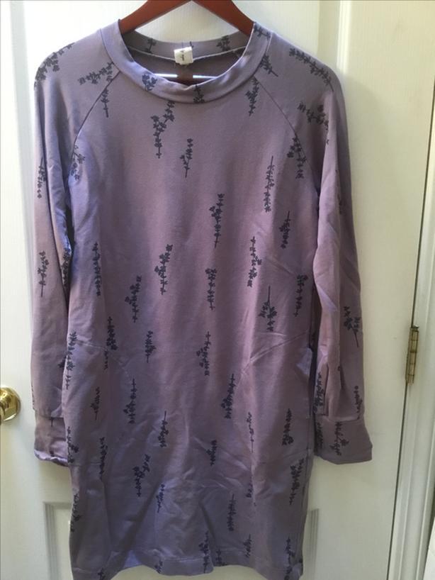 Smoking Lily Carside Sweatshirt Tunic Dress size small