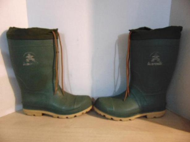 Winter Boots Men's Size 8 Kamik With Liner Green Excellent For Year Round