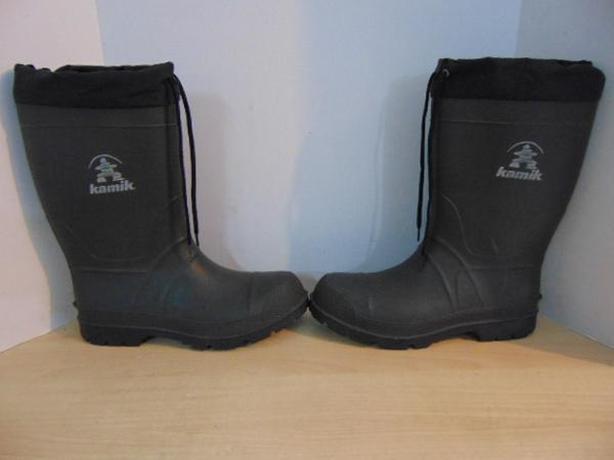 Winter Boots Men's Size 11 Rain Boot With Winter Liner Kamik Black