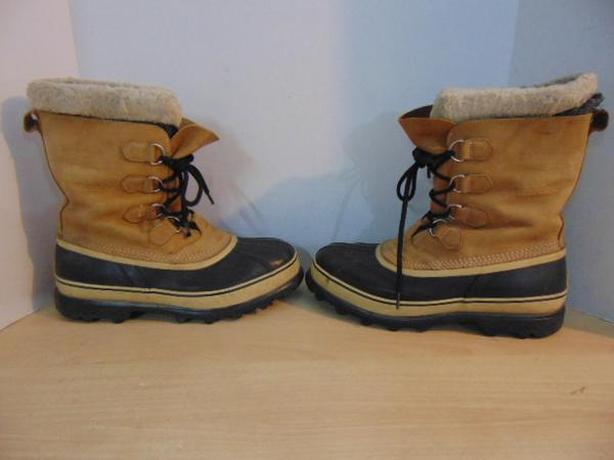Winter Boots Men's Size 11 Sorel Tan Leather With Liner