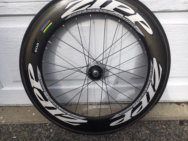 Zipp 808 Powertap Wheel.