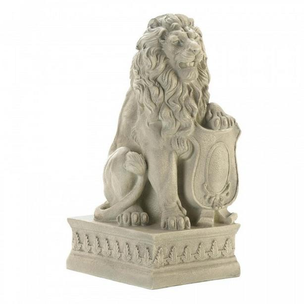 Stone-Look Lion Statue Yard Decor Brand New