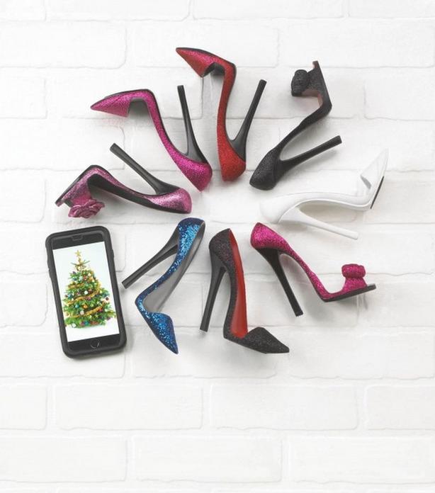 Stiletto Glitter High Heel Shoe Phone Holder Red Blue Black White Pink 8 Lot Mix