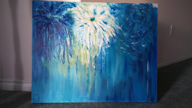 "Original Acrylic Painting on Canvas, 24"" x 30"""