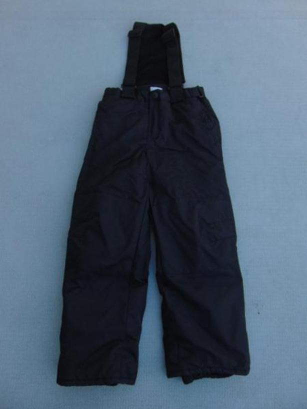 Snow Pants Child Size 8 Children's Place Black Micro Fleece Lined Inside New