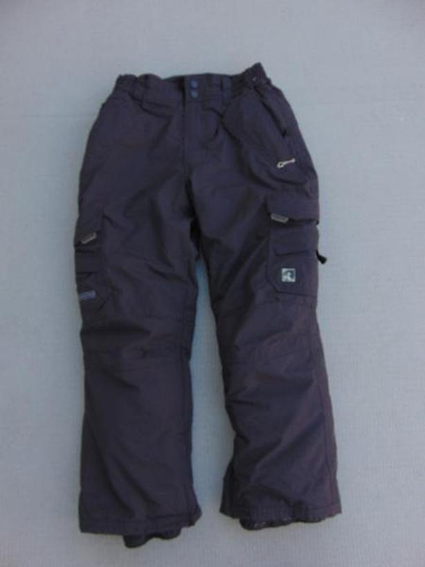 Snow Pants Child Size 8 Ripzone Brown Snowboarding