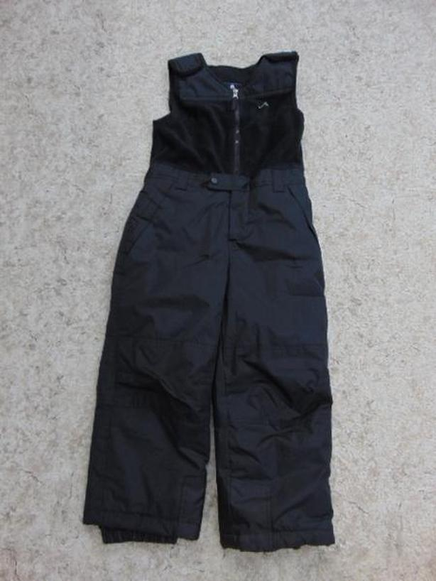 Snow Pants Child Size 8 Vertical With Fleece Bib Black New Demo Model