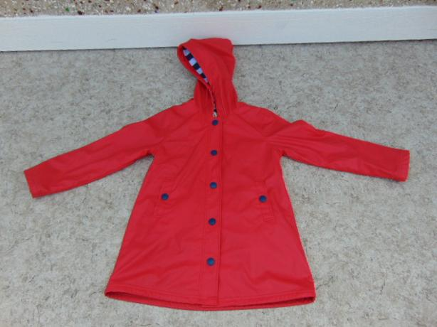 Rain Coat Child Size 10 Hatley Red Navy As New Mint