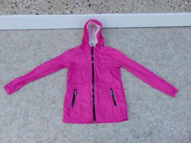 Rain Coat Child Size 14-18 Athletic Fushia Waterproof All Seams and Zippers Seal